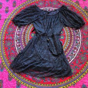 My Michelle Gray Lace Dress